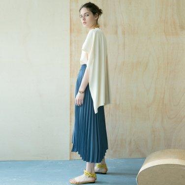 Folded Pleats Skirt [Light Navy] (JC18FWSK02_NV)