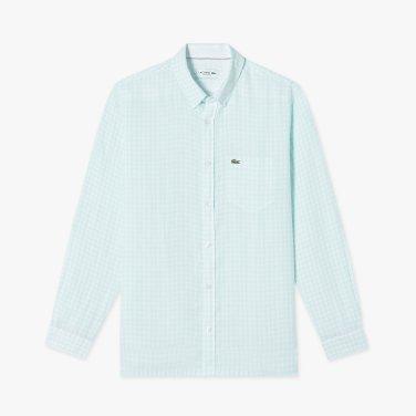 (남성) 나노 깅엄 린넨 셔츠  CH7095-19B_F8R_KR217