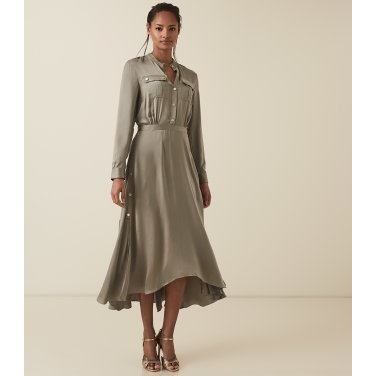 [리스여성]도넬라 밀리터리 맥시 드레스[672-91-24-017]