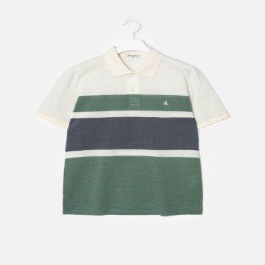 S/S 화이트 컬러 블록 소로나 칼라 티셔츠(BC9342A221)
