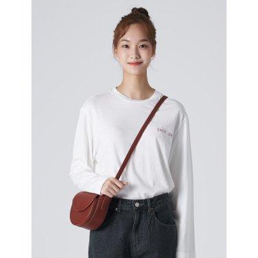여성 화이트 베이직 포인트 백 프린팅 티셔츠 (329841LYA1)