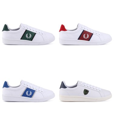 FRED PERRY B721 Canvas/Leather 남성용 스니커즈 4종 (1택)