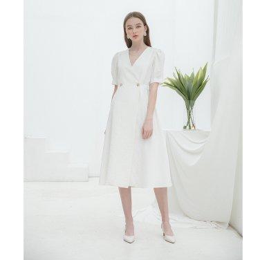[클렛] Linen Warp Button Dress (19CLETSM11E)