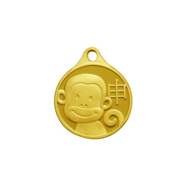 원숭이 목걸이 메달 3.75g