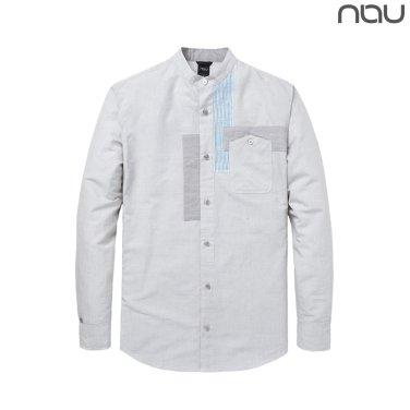 나우(nau) 샤케르 린넨 포켓포인트 셔츠 1NUYSM8002M-LI