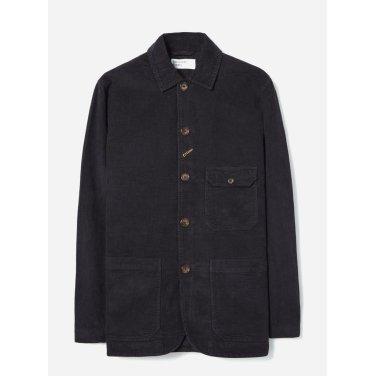 벨벳 코듀로이 베이커 자켓 블랙 / Norfolk Bakers Jacket in Black Velvet Cord/ REF 21119