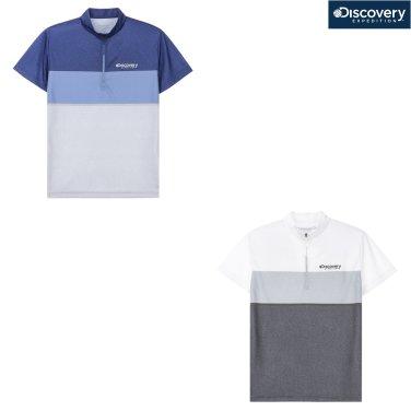 남성 컬러블럭형 집업티셔츠 DMZT65831