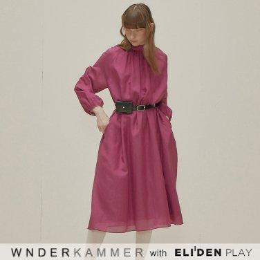 [분더캄머:WNDERKAMMER] Silk Blended Dress_Purple (WK9F0-SBOP040)