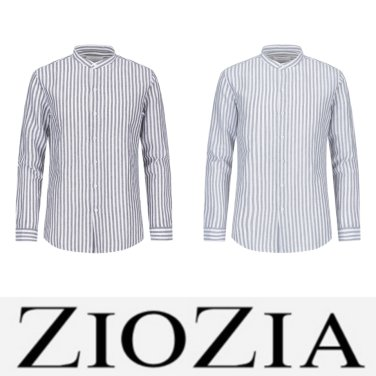 린넨코튼 런던스트라이프 밴드카라 셔츠 2종 택1 (ADZ2WC1908)