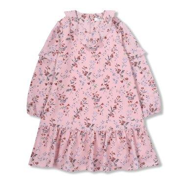 여아여아 핑크꽃프린트 롱원피스 (R1911O603_10)