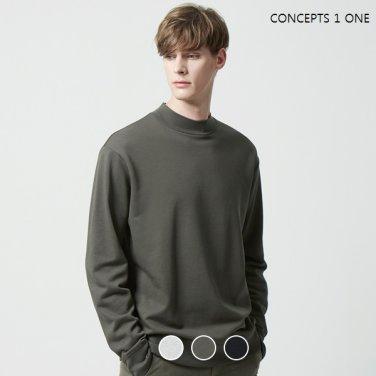남성 테리 모크넥 맨투맨 티셔츠(10029906)