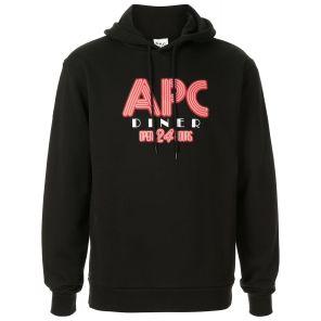 A.P.C 아페쎄 로고 후드티 블랙 CODCYH27542