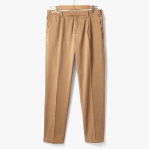 [YCHAI]ONE TUCK COTTON PANTS BEIGE/YC92M30001A24