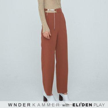 [분더캄머:WNDERKAMMER] 20SS Waist Strap Trousers Brown (WK0S4-WSPT040)