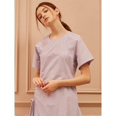 [까이에] Ruched Asymmetric Dress