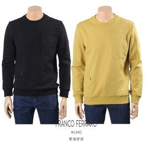 포켓디테일 맨투맨 티셔츠 A0A1153