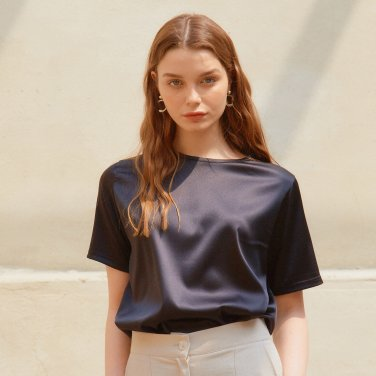 SILKY T-SHIRTS_BLACK