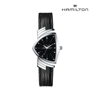 H24411732 벤츄라 쿼츠 블랙 남녀공용 시계 (맨 인 블랙 공식 워치)