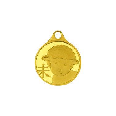 양띠 목걸이 메달 3.75g