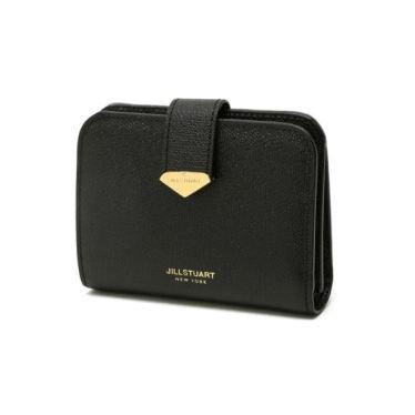 [선물포장+쇼핑백동봉] 블랙 다이아몬드 베루 장식 가죽 2단 반지갑
