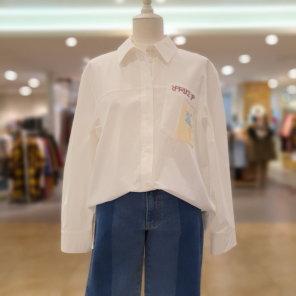 프린팅 포켓 셔츠 블라우스 C201MSC010