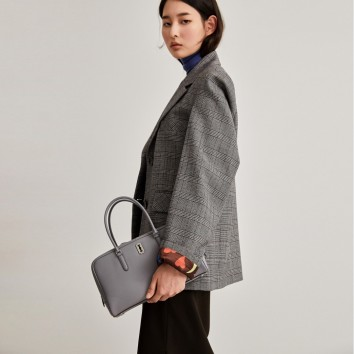 [vunque] Oblong Tote S (어블론 토트 S) Middle gray VQA91TO0911