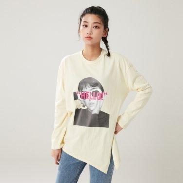 20수 전사프린트 긴팔 티셔츠(AL1CT271)