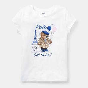 폴로 랄프 로렌 칠드런 폴로 베어 저지 티셔츠(CWPOKNIGN810306E86)