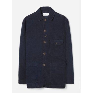 벨벳 코듀로이 베이커 자켓 네이비 / Norfolk Bakers Jacket in Navy Velvet Cord /REF21119
