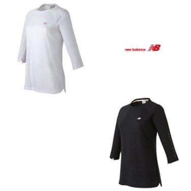 WOMEN 에센셜 롱 7부 티셔츠 NBND92W042