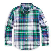 폴로 키즈 남아 5-7세 플래드 코튼 포플린 셔츠(CWPOWOVB6810244D85)