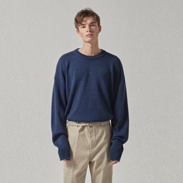 WIDE ROUND OVER KNIT_BLUE