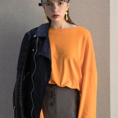 Neon Drop Shoulder Tshirts Orange(2019SSTS320_02)