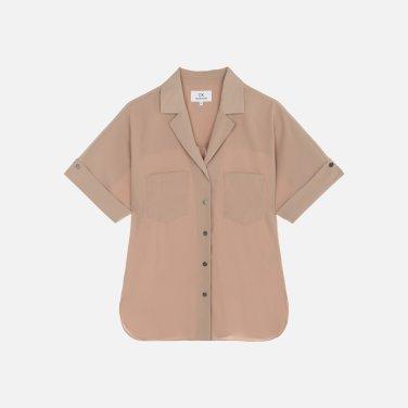 하프 슬리브 셔츠 블라우스 (VWMT2BL55LL0)