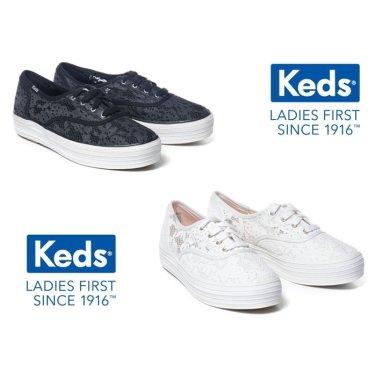 KEDS 컨템포러리 케즈 트리플 프린트 크로셰 여성스니커즈 WF60180 WF59462 2-COR