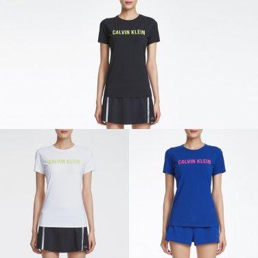 여성 씨케이 로고 반팔 티셔츠 4WF8K139