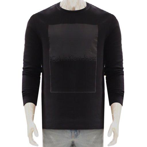 남성 배색 프린트 맨투맨 티셔츠(4AOKSE8)