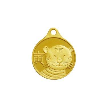 호랑이띠 목걸이 메달 3.75g