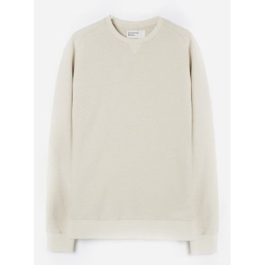 크루 핸들 드라이 스웨트 셔츠 에크루 / Classic Crew Sweatshirt in Ecru / REF 21601