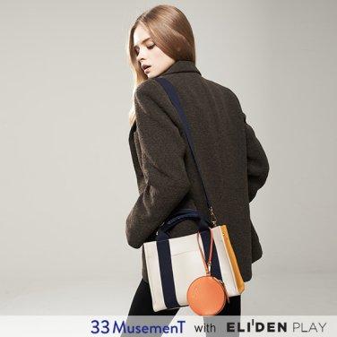 [33뮤즈먼트] 33 MusemenT  33 Cube Bag Small Beige (MB-1909-01S)