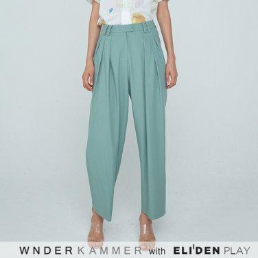 [분더캄머:WNDERKAMMER] 20SS Zigzag Wide Trousers Green (WK0S3-ZWPT020)