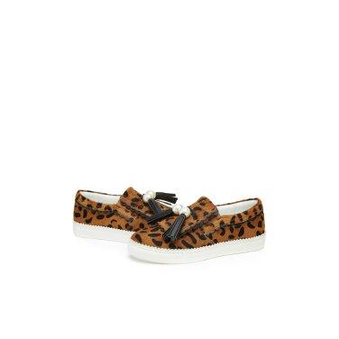 Pearl tassel leopard slip-on(brown) DG4DX529BRN-EL