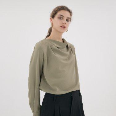 [2th-stock] Drape Blouse - Moss Green