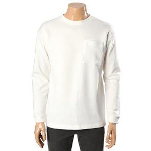 S/S 면 폴리 혼방 니트포켓 세미 오버핏 티셔츠 67TS201 91