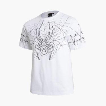 유니섹스 빅 로고 웹 티셔츠 SPFMCNRS310U-WHT-EL