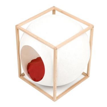 미유파리 더 큐브 우드 아이보리