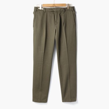 [YCHAI]ONE TUCK COTTON PANTS OLIVE/YC92M30001A94