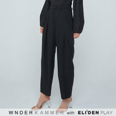 [분더캄머:WNDERKAMMER] 20SS Zigzag Wide Trousers Black (WK0S3-ZWPT020)