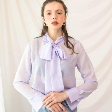 Cos Tie Blouse Lavender(BLUEBL320_01)