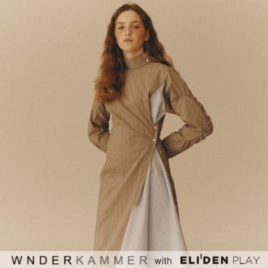 [분더캄머:WNDERKAMMER][우주소녀 은서 착용] Shirring Sleeve Dress_Grey (WK9F9-SSOP030)